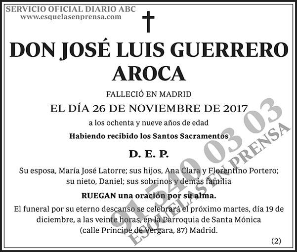 José Luis Guerrero Aroca